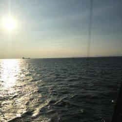 台風後の南港新波止