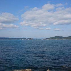 加太漁港にて