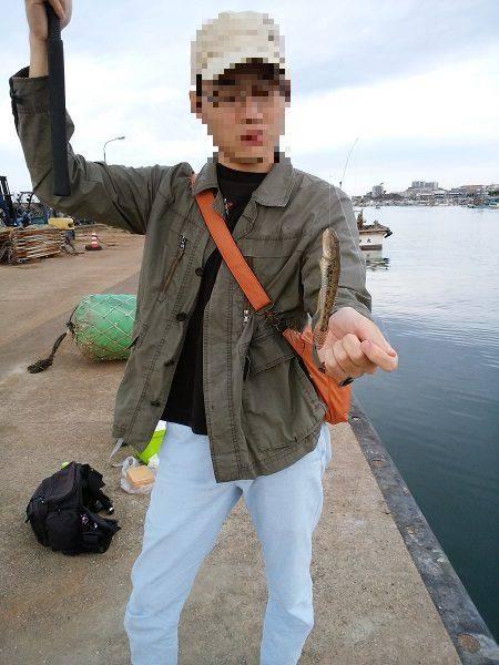 林崎漁港でハゼ釣り
