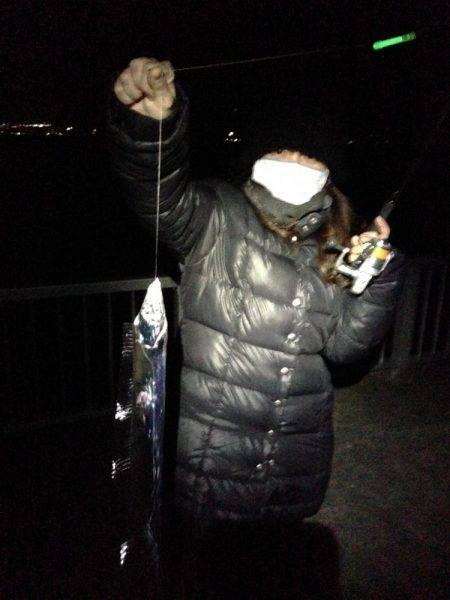 寒い中、60cmオーバーのアナゴゲット!