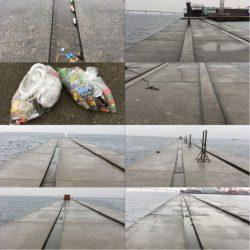 ショアジギング&釣り場の掃除