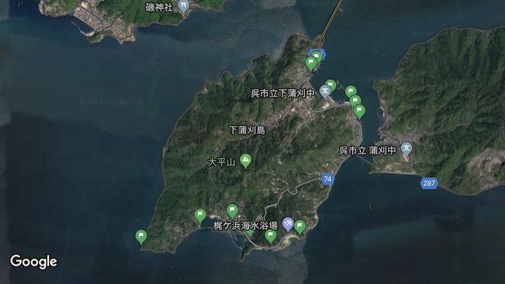 下蒲刈島アジング&メバリングポイント図