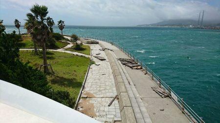 台風20号による翼港施設閉鎖について