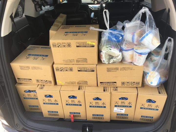 釣りを自粛し支援物資を届ける