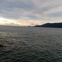 台風あと琵琶湖