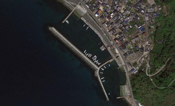 山口県周防大島佐連漁港マップ