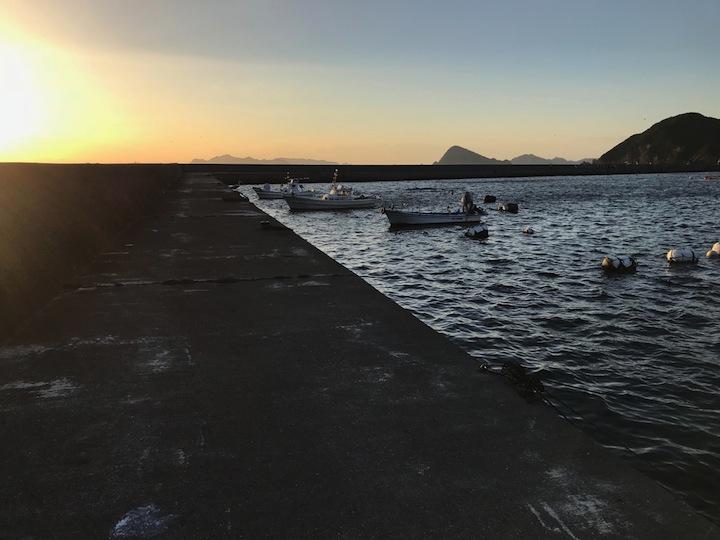 愛媛県宇和島市津島町大浜漁港でのファミリーフィッシング
