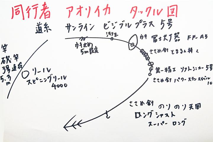 同行者のタックル図
