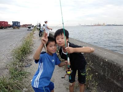子どもたちとハゼ釣り