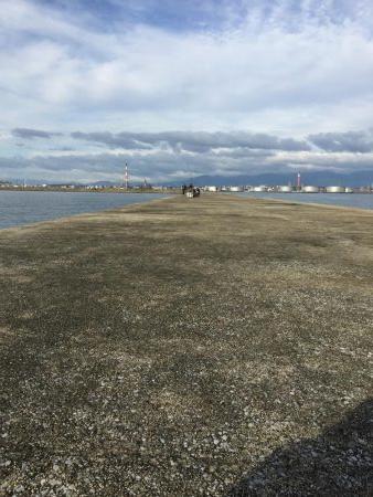 沖堤防でショアジギング