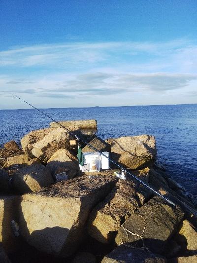 大塩海岸のキス釣り