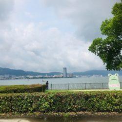 全開放水な琵琶湖